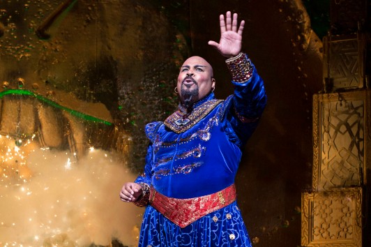 ALADDIN - Disney Theatrical Productions - 2014 PRESS ART - Toronto - James Monroe Iglehart (Genie) - Photo Credit: Cylla von Tiedemann